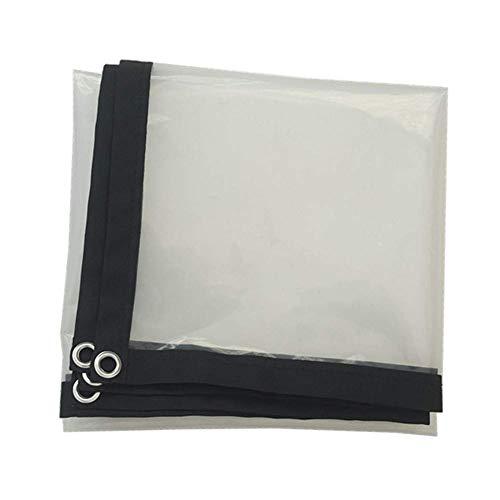 Lona Transparente de Vidrio Impermeable Resistente al Aire Libre Aislamiento Transparente Espesar PE Planta Flor Invernadero Sombra a Prueba de Polvo 23 tamaños (Color: Transparente Tamaño