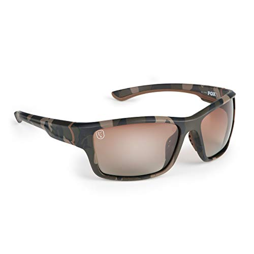 Fox Sunglasses - Polarisationsbrille, Modell:Camouflage Rahmen/braune Gläser