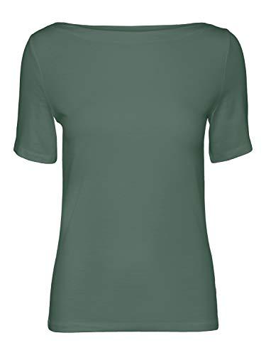 VERO MODA Womens VMPANDA MODAL S/S TOP GA NOOS T-Shirt, Laurel Wreath, M