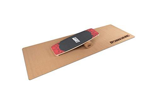BoarderKING Indoorboard Limited Edition Wakeboard - Skateboard Surfboard Trickboard Balanceboard Balance Board (Red, 100 mm x 33 cm (Ø x L))
