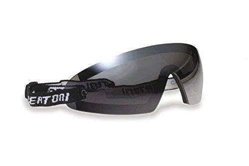 BERTONI Winddichte Sportbrille Schutzbrille für Brillenträger mit Sehstärke - Skifahren - Reiten - Motorradfahrer - Fallschirmspringen - Abnehmbarer Optischer Einsätze AF79D (Dunkle Linse)