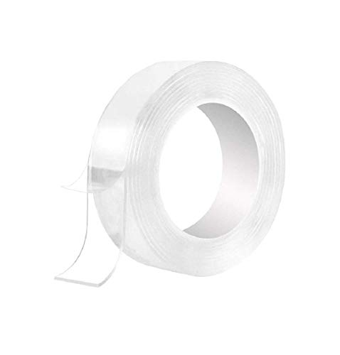 Truvic Strong Adhesive Two Way Tape | Double Sided Tape for Wall, Car, Carpet, Floors | 3mm Roll of Thin Reusable | Heavy Duty Grip Tape | Safe Waterproof Tape
