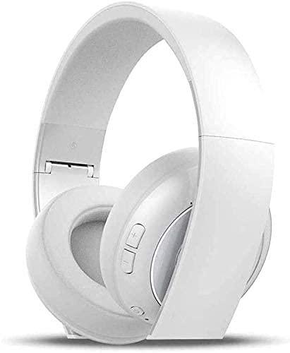XUERUIGANG Auriculares de cancelación de ruido: Bluetooth en los auriculares para la oreja, auriculares estéreo de alta fidelidad con micrófono de bajo incorporado, ajustable plegable, para la oficina