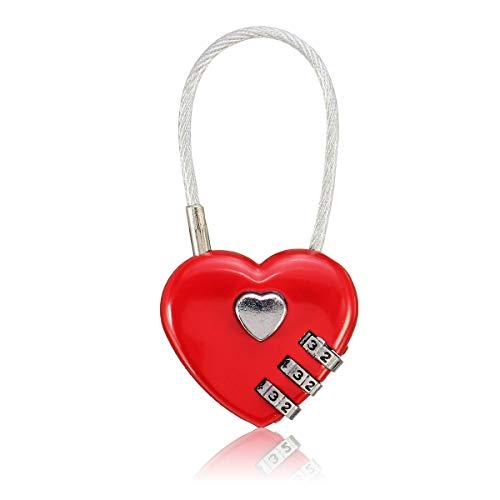mansum Kreative Geschenkidee Liebesschloss mit personalisierbarer Gravur Vorhängeschloss in Herzform