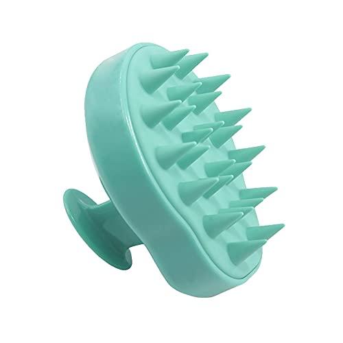 Tomedeks cepillo de champú masajeador de cuero cabelludo cepillo de limpieza, cepillo de peinado húmedo y seco de silicona (Green)
