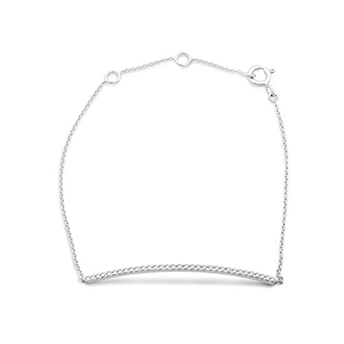 Miore - Pulsera de oro blanco con diamante (.22) (18 cm)