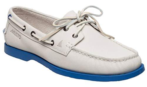 Musto Musto Herren Bootsschuh Nautic Bay Segelschuh, Farbe:White, Größe:41.5 EU