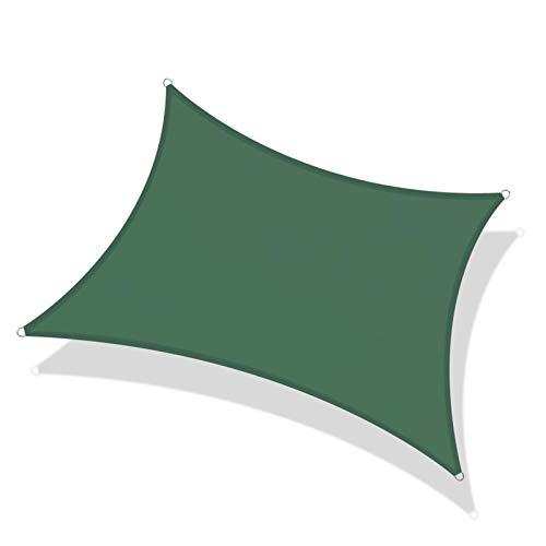 GHHZZQ Paño De Sombra Bloqueador Solar Impermeable Exterior Patio Techo Aislar El Calor Interior Exterior Villa Vela De Sombra Solar Cubierta De Toldo (Color : Green, Size : 4x6m)