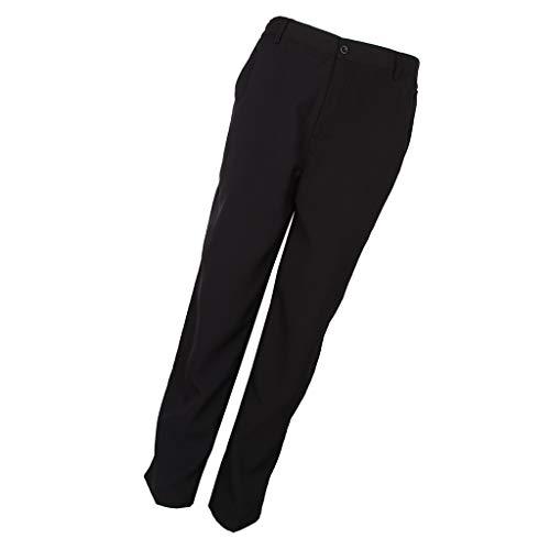 non-brand Uniforme Pantalones Camarero Restaurante Cafe Cost Pant Complimentos Semi-suelto Cómodo - Negro, XXXL