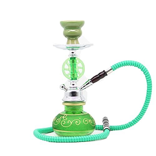 Khalil Mamoon - Juego de cachimba árabe Hukahnhukas para el hogar y la fiesta, diseño portátil, fácil de limpiar, verde