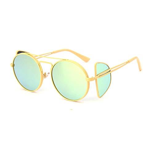 SUIBIAN Gafas de Sol para Mujer Gafas de Sol Redondas con Espejo UV400 para Mujer