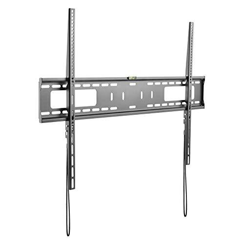 StarTech.com TV Wandhalterung für Flachbildfernseher - für 60 bis 100 Zoll Monitore - VESA Norm - Stahl - belastbar - flach