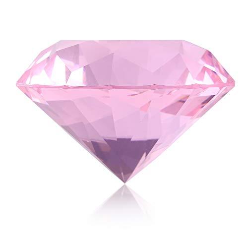 Grand Cristal Clair Nail Art Affichage Verre Cristal Diamant Main Modèle Shoot Ornement Manucure Accessoires 60mm (Couleur : Rose)