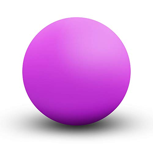 KissDate Masaje Lacrosse Ball para liberación miofascial, pie, espalda, punto de gatillo bola de tratamiento, nudo muscular, yoga (púrpura)