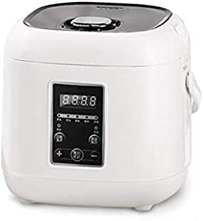 SHAAO 2L Mini Home Non-stick Rice Cooker 5 Functions Electric Soup Pot Yogurt Cake Machine 24H Appointment for 2 People