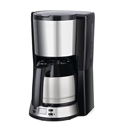 Drip Kaffeemaschine mit thermischem Edelstahlbehälter, programmierbarer Kaffeebrüher, einstellbar von 2-8 Tassen mit großem Fassungsvermögen, Anti-Tropf-Funktion, kompatibel mit Kaffeemehl