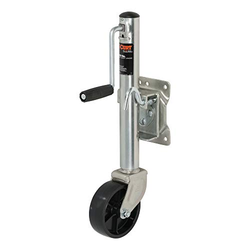 CURT 28112 Marine Boat Trailer Jack with 6-Inch Wheel