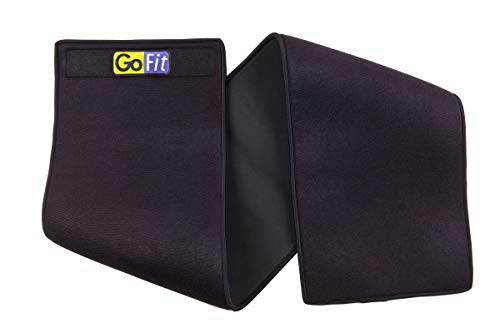 GoFit Double Neoprene Waist Trimmer - Thick Waist Trainer for Men and Women