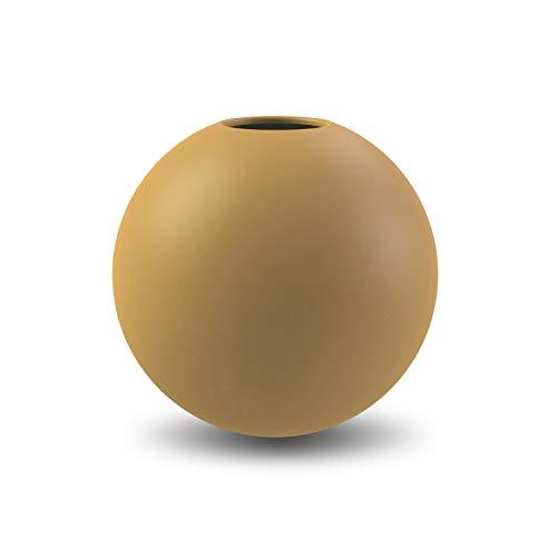 Cooee Design Ball vaas, keramiek, Oker 8 cm