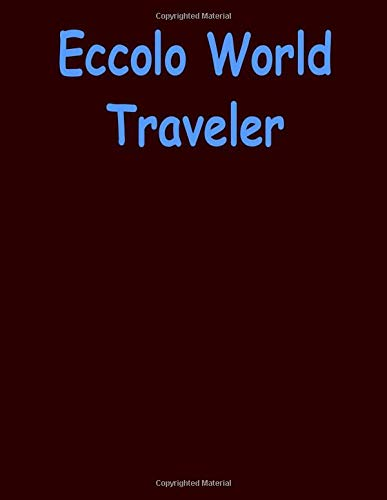Eccolo World Traveler: Eccolo World Traveler Desk Size Journal, 100 Lined Page Notebook, 8.5 x 11, Black Be Bold.