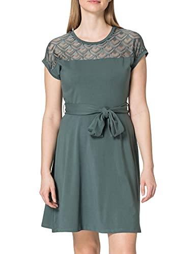 Only Damen ONLBILLA S/L LACE DRESS JRS Kleid, Balsam Green , M