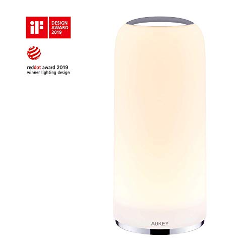 ナイトライト ベッドサイドランプ AUKEY ランプシェード 常夜灯 間接照明 テーブルランプ LT-T7