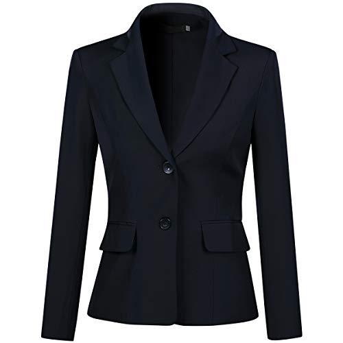 Yynuda Blazer da donna, giacca estiva elegante per l'ufficio, dal taglio aderente Blu 42
