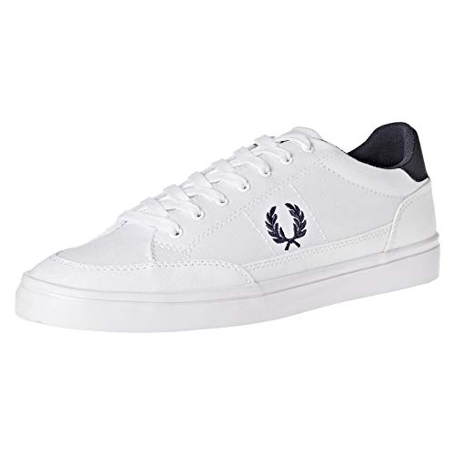 Fred Perry Men's Deuce Canvas Sneaker, White, 8 D UK (9 US)