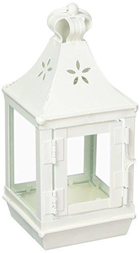 Gifts & Decor Mini Cutwork Blanc Shabby Jardin Luminaire d'extérieur Lanterne par