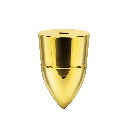 Dynavox Juego de 4 amortiguadores de subvatios para altavoces y equipos de alta fidelidad, montaje con tornillos, latón