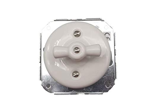 Interruptor- conmutador empotrar porcelana con lazo (sin marco)