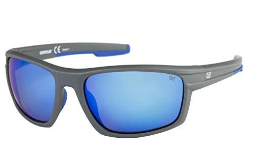 Caterpillar Men's Motor Polarized Sunglasses Rectangular, Matte Solid Gray, 62 mm