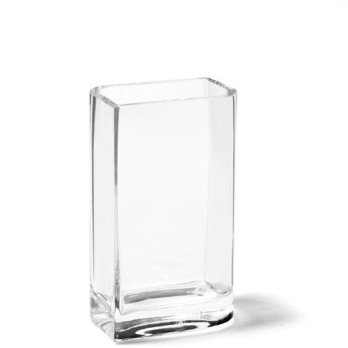 Leonardo Lucca Kasten-Vase, handgefertigte Deko-Vase, rechteckige Blumen-Vase aus Glas, Höhe: 250 mm, 014384