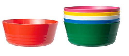 IKEA Multicolor Baby Bowls BPA Free Microwave Safe Kids Bowls Impact and Scratch Resistant Colorful Snack Bowls for Toddlers Infant Bowls for Cereals