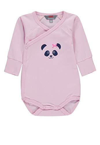 Kanz Baby-Mädchen Wickelbody 1/1 Arm Strampler, Pink (Pink Lady Rose 2720), 56