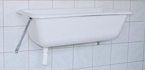 Cajou Spülwanne Spülbecken Spülwanne Waschtrog Waschwanne Badewanne auch für Hunde Handwaschbecken Waschbecken (mit Wandkonsole, 65 Liter)