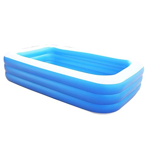 Piscinas inflables sobre el suelo, piscina inflable para niños Piscina plegable para niños Tinas de baño al aire libre Tinas infladas Tina de piscina inflable para niños Adultos Jardín ( Size : 2.6m )