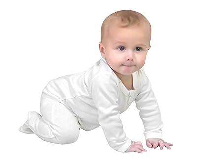 Owlivia Baby Organic Cotton Zip-Up Sleep N Play (6-12 Months, Off-White)