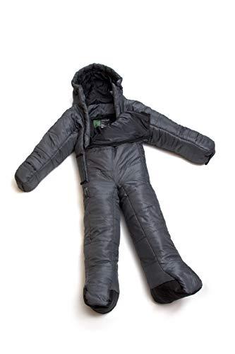 Selk'bag Lite Tragbarer Schlafsack mit Armen und Beinen, Dunkel Schatten, M