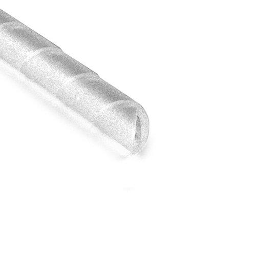 Hellermann Tyton 2NFP9C - Vendaje de espiral, diámetro de 0,63 cm, PE, natural, carrete de 100 pies