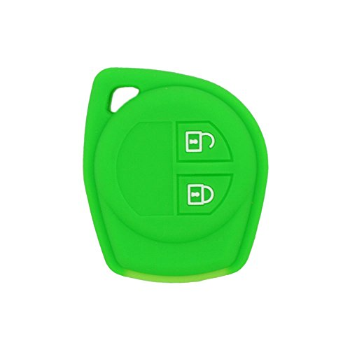 4 Buttons Green Silicone Key Fob Case Key Cover Jacket fit for Chevrolet