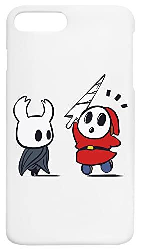Hollow Shy Guy Caja del Teléfono Compatible con iPhone 7+, iPhone 8+ Cubierta de Plástico Duro Hard Plastic Cover