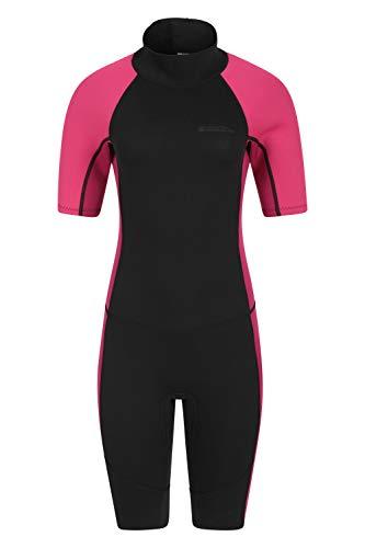 Mountain Warehouse Womens Shorty Wetsuit - 2.5mm, Neoprene Swimsuit Black 16-18