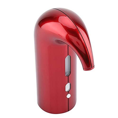 Automatische wijnbeluchter, USB oplaadbaar, principe van vloeiende technologie, eenvoudig elegant ontwerp, licht en draagbaar, geschikt voor thuis, feest, zakelijk banket (rood)
