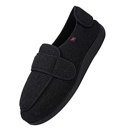 Extra AnchaEspecial Pies con Vendaje,zapatillas ajustables, cierre de velcro, sandalias, pies anchos abiertos, zapatillas para ancianos,A-51 🔥