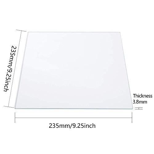Glass Printer Bed 235x235x3.8mm Borosilicate Glass 3D Printer Glass Print Platforms for Ender 5/Ender 3/Ender 3 Pro