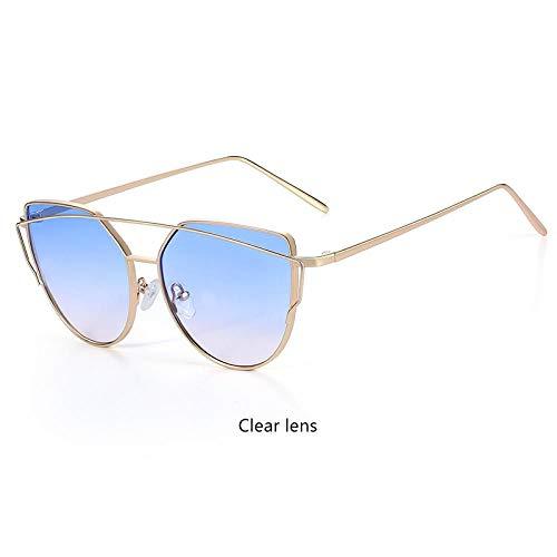 Sonnenbrille Sunglasses Sonnenbrillen Damen Cat Eye Hübscher Designspiegel Flache Rose Gold Retro Cat Eye Mode Sonnenbrillen Damen Bri