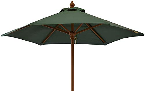 Ombre Sun Umbrella Outdoor Table et Chaise Centre Colonne Parasol Cour extérieure Stalls Plage Pliante Grand Parasol Portable (Color : Grün)