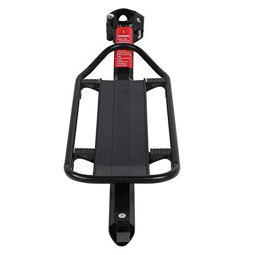 Portaequipajes para bicicleta de montaña, bicicleta de montaña, asiento trasero, portaequipajes, de aleación de aluminio, accesorio de ciclismo, rodamientos máxima: aproximadamente 10 kg
