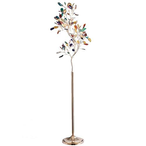 NYKK Lámpara de pie LED lámpara de pie for Lectura- Permanente Moderna Luz Brillante for el Dormitorio de Estar ágata árbol estación Ligera Lámpara de Piso